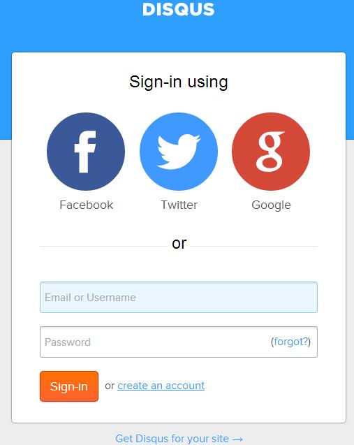 Регистрация и авторизация на Disqus