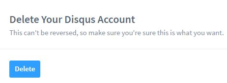 Как удалить профиль аккаунта в Disqus