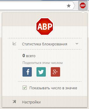 Управление Adblock Plus