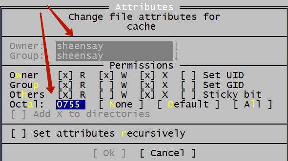 Права на запись /wp-content/cache/