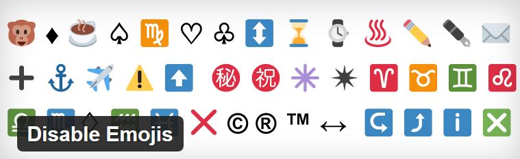 Плагин WordPress для отключения Emojis - Disable Emojis
