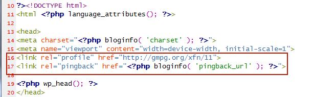 Удаляем лишний код из head секции