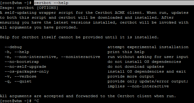 certbot --help
