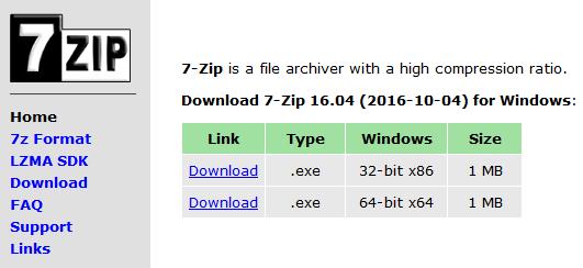 Скачать 7-zip архиватор