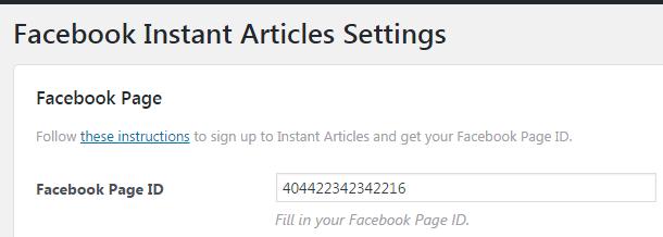 Как вставить Facebook Page ID в Instant Articles